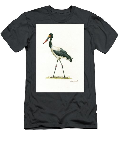 Saddle Billed Stork Men's T-Shirt (Athletic Fit)