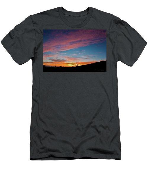 Saddle Road Sunset Men's T-Shirt (Athletic Fit)