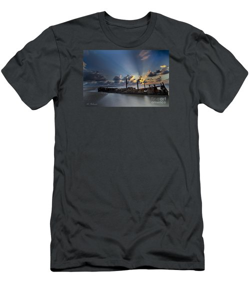 Men's T-Shirt (Slim Fit) featuring the photograph Safe Shore by Arik Baltinester