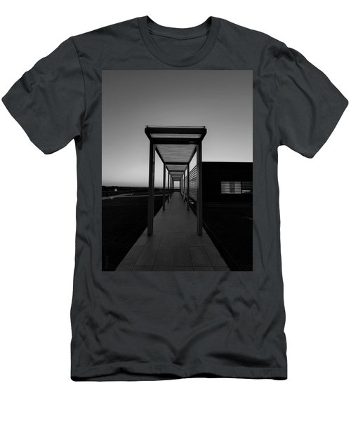 Men's T-Shirt (Athletic Fit) featuring the photograph Sag Harbor Sunset In Black And White by Rob Hans