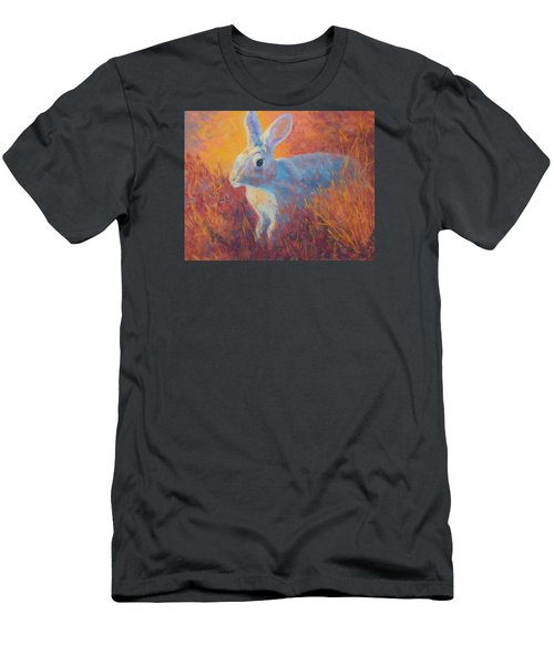 Men's T-Shirt (Slim Fit) featuring the painting Sage Hare by Nancy Jolley