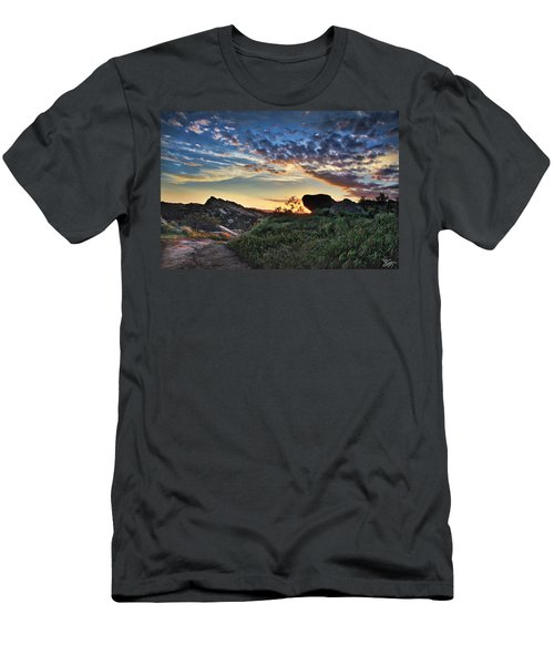 Sage Ranch Sunset Men's T-Shirt (Slim Fit) by Endre Balogh