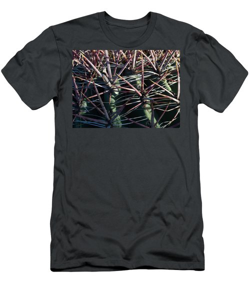 Men's T-Shirt (Slim Fit) featuring the photograph Saguaro Grid by Carolina Liechtenstein