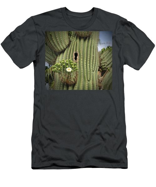 Saguaro In Bloom Men's T-Shirt (Athletic Fit)