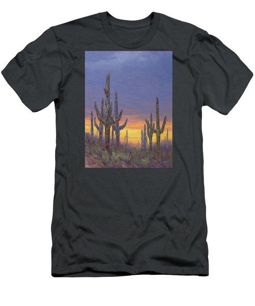 Saguaro Mosaic Men's T-Shirt (Athletic Fit)