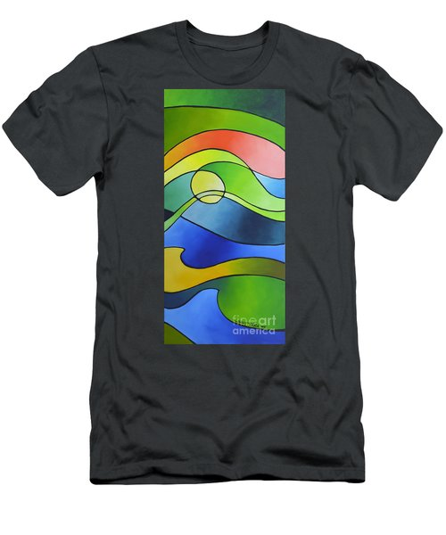 Sailing Away, Canvas Three Men's T-Shirt (Athletic Fit)