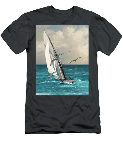 Sailing Southern Seas Men's T-Shirt (Athletic Fit)