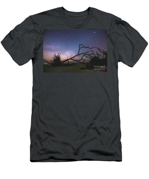 Saint Helena Milky Men's T-Shirt (Slim Fit) by Robert Loe