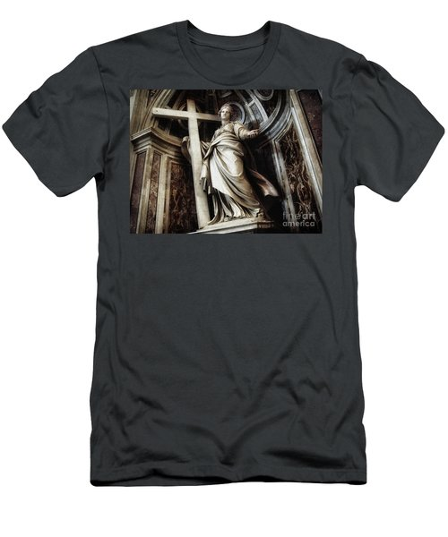 Saint Helena Statue Inside Saint Peter S Basilica Rome Italy Men's T-Shirt (Athletic Fit)