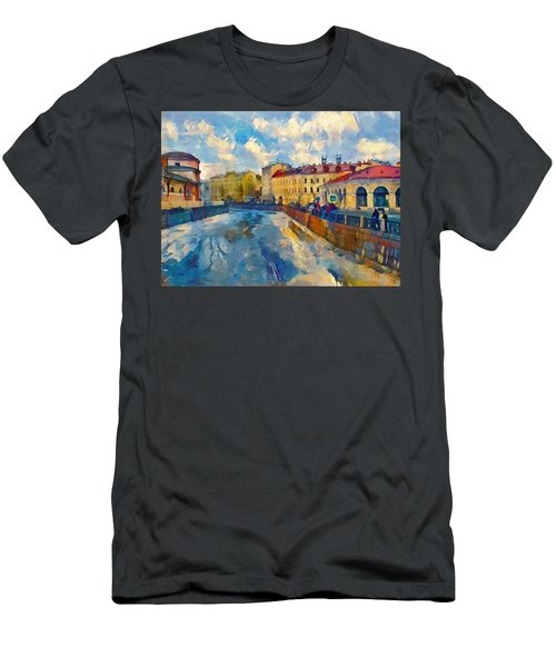 Saint Petersburg Winter Scape Men's T-Shirt (Athletic Fit)