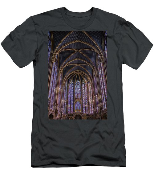 Sainte Chapelle Stained Glass Paris Men's T-Shirt (Athletic Fit)