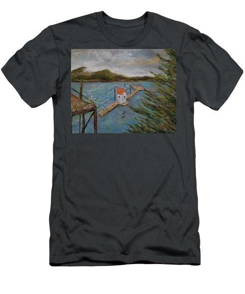 Salmon Hatchery, Juneau, Alaska Men's T-Shirt (Athletic Fit)