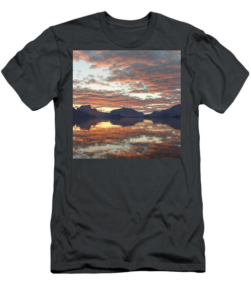 Men's T-Shirt (Slim Fit) featuring the digital art Salmon Lake Sunset by Mark Greenberg