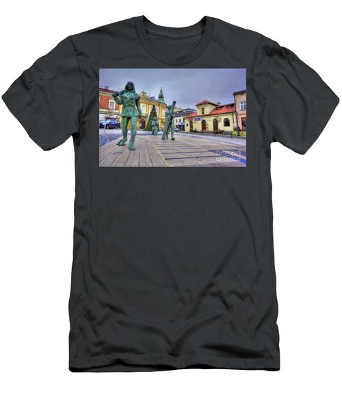 Men's T-Shirt (Slim Fit) featuring the photograph Salt Miners Of Wieliczka, Poland by Juli Scalzi