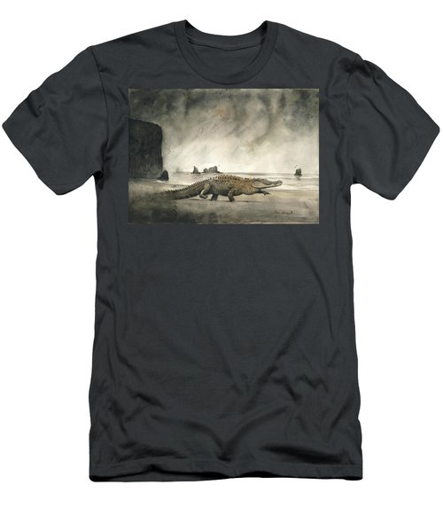 Saltwater Crocodile Men's T-Shirt (Athletic Fit)