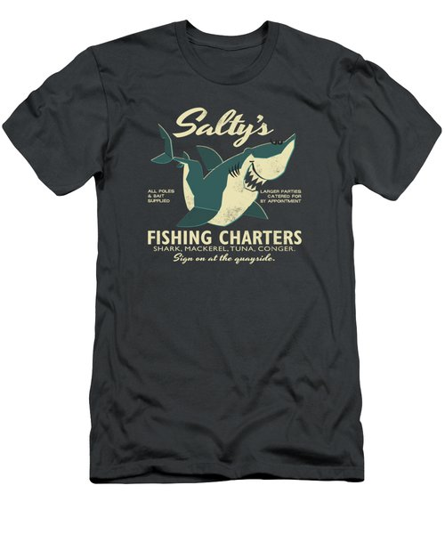 Salty's Fishing Charters Men's T-Shirt (Athletic Fit)
