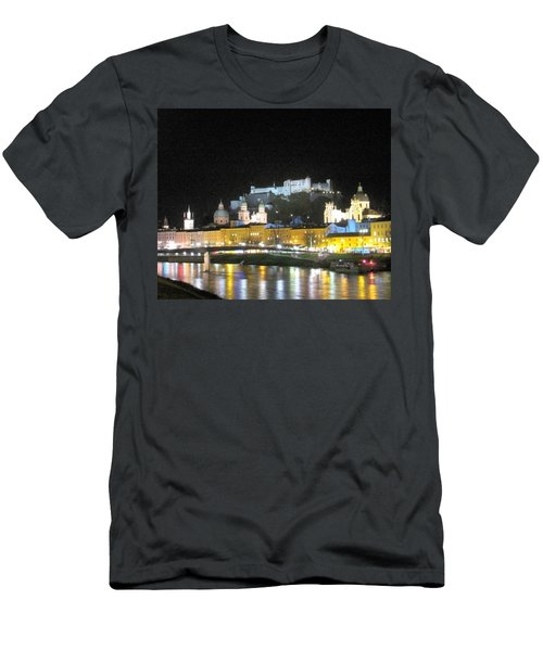 Salzburg At Night Men's T-Shirt (Slim Fit) by Betty Buller Whitehead