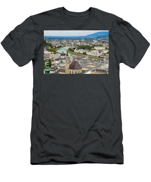 Salzburg From Hohensalzburg Castle Men's T-Shirt (Athletic Fit)
