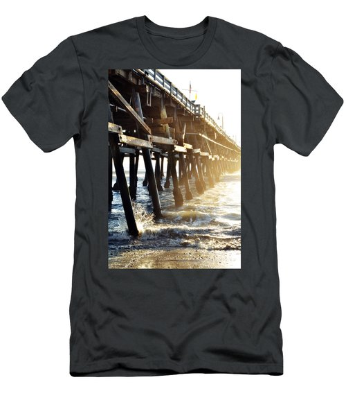 Men's T-Shirt (Slim Fit) featuring the photograph San Clemente Pier Magic Hour by Kyle Hanson