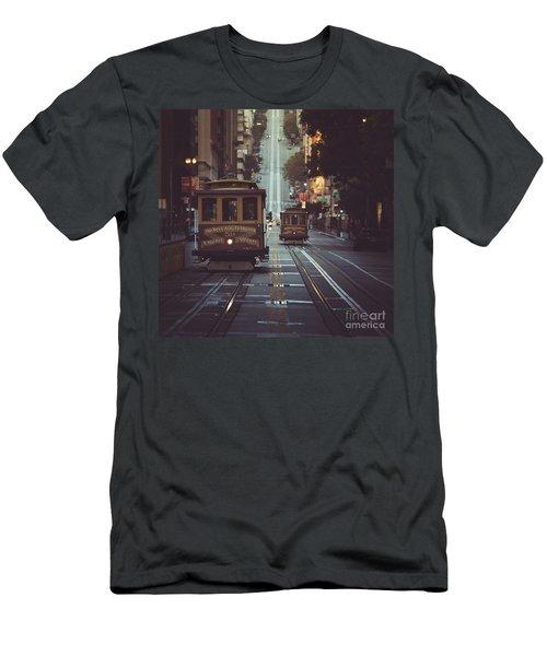 San Francisco Men's T-Shirt (Slim Fit) by JR Photography
