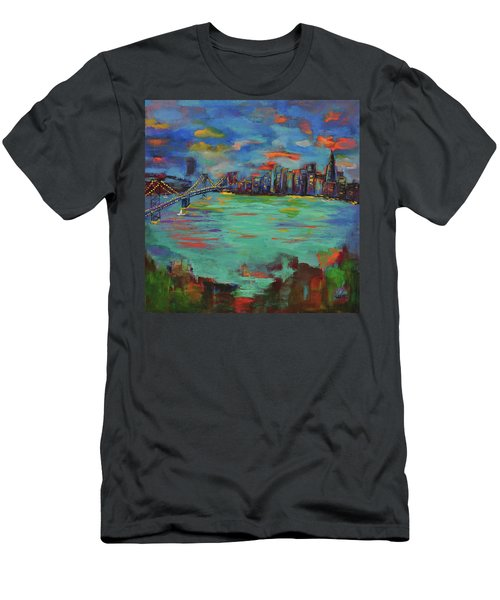 San Francisco Skyline In Sunset Men's T-Shirt (Athletic Fit)