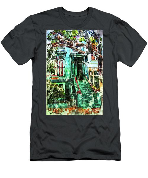 San Francisco Victorian Men's T-Shirt (Slim Fit) by Joan Reese