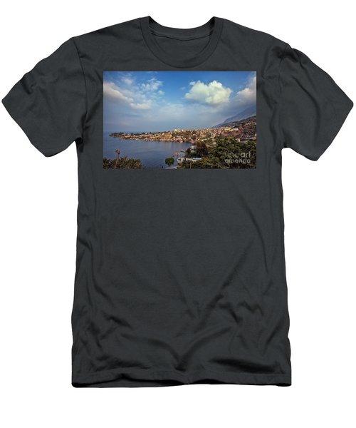 Men's T-Shirt (Athletic Fit) featuring the photograph San Pedro La Laguna, Lake Atitlan, Guatemala by Sam Antonio Photography