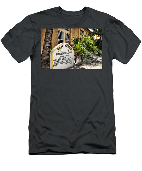 Men's T-Shirt (Slim Fit) featuring the photograph San Pedro Roman Catholic Church by Lawrence Burry