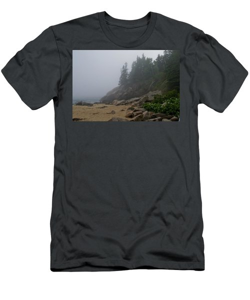 Sand Beach In A Fog Men's T-Shirt (Athletic Fit)