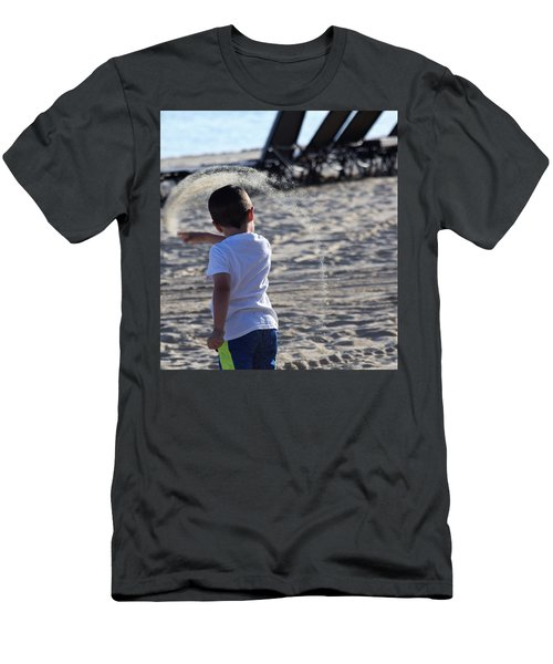 Sand Rainbow Men's T-Shirt (Slim Fit) by John Glass