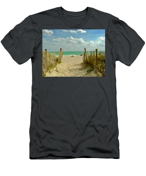 Sand Track To The Beach Men's T-Shirt (Athletic Fit)