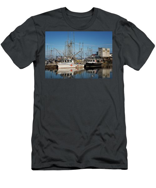 Men's T-Shirt (Slim Fit) featuring the photograph Sandra M And Lasqueti Dawn by Randy Hall
