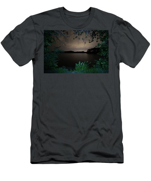 Men's T-Shirt (Athletic Fit) featuring the photograph Sandra Pond At Night 2 by Brian Hale