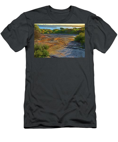 Men's T-Shirt (Athletic Fit) featuring the photograph Sandstone Platform by Miroslava Jurcik