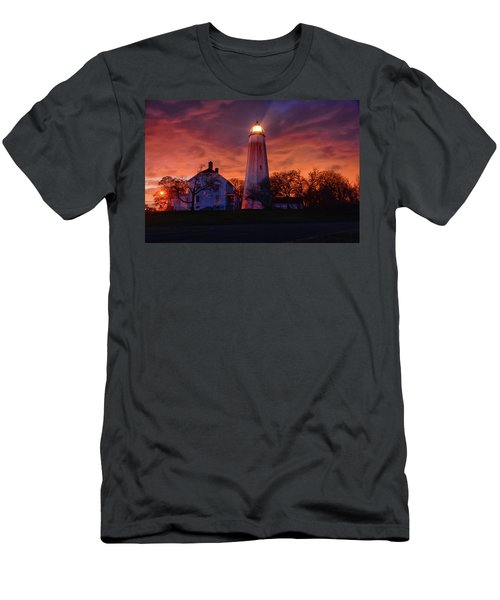 Sandy Hook Lighthouse Men's T-Shirt (Athletic Fit)