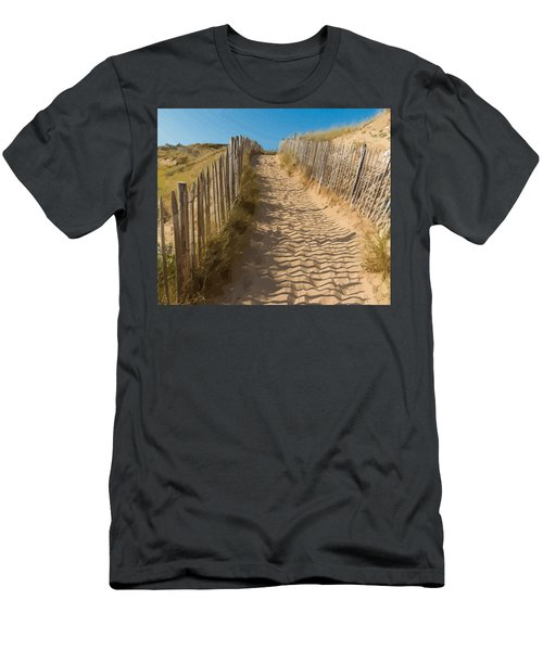 Sandy Pathway To The Beach Men's T-Shirt (Athletic Fit)