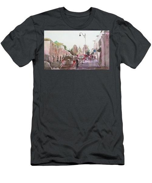 Sanfransisco Street Men's T-Shirt (Slim Fit) by Becky Kim