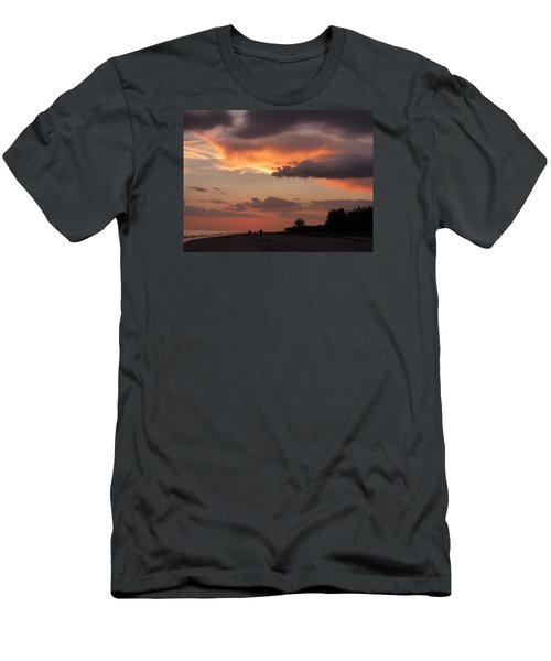 Sanibel At Dusk Men's T-Shirt (Slim Fit) by Melinda Saminski