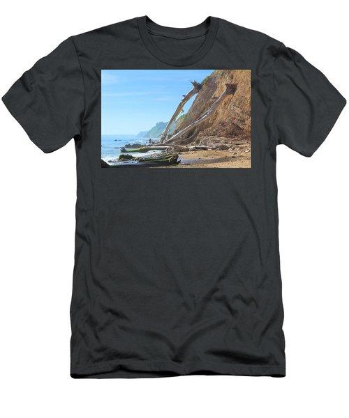 Men's T-Shirt (Slim Fit) featuring the photograph Santa Barbara Coast by Viktor Savchenko
