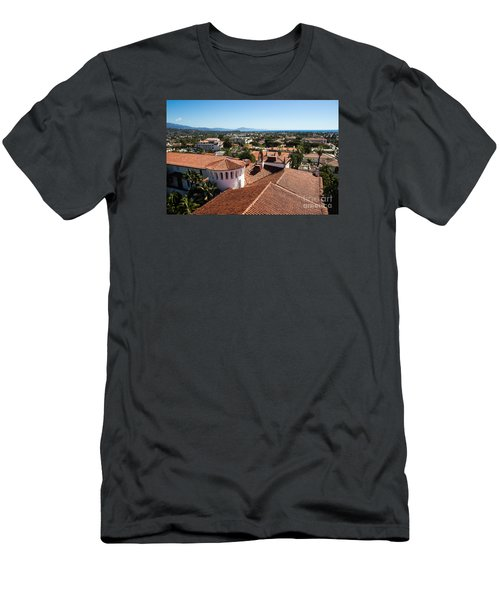 Santa Barbara From Above Men's T-Shirt (Slim Fit) by Suzanne Luft