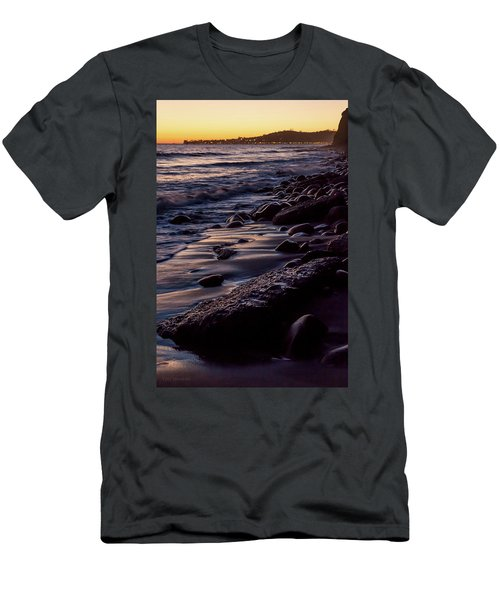 Men's T-Shirt (Athletic Fit) featuring the photograph Santa Barbara Lights by Tim Newton