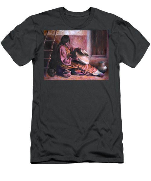 Men's T-Shirt (Slim Fit) featuring the painting Santa Clara Potter by Nancy Griswold