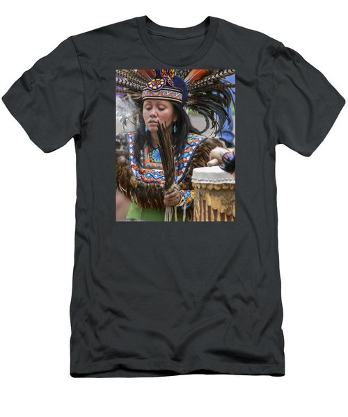 Santa Fe - La Shamana Men's T-Shirt (Slim Fit) by Allen Sheffield