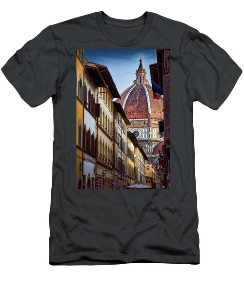 Santa Maria Del Fiore From Via Dei Servi Street In Florence, Italy Men's T-Shirt (Athletic Fit)