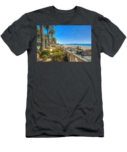 Santa Monica Ca Palisades Park Bluffs Gold Coast Luxury Houses Men's T-Shirt (Athletic Fit)
