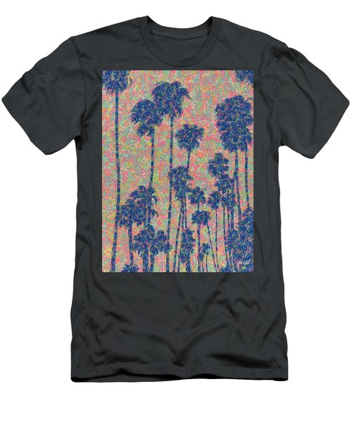 Men's T-Shirt (Athletic Fit) featuring the painting Santa Monica by Keith McGill