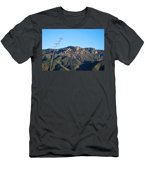Men's T-Shirt (Athletic Fit) featuring the photograph Santa Monica Mountains View  by Matt Harang