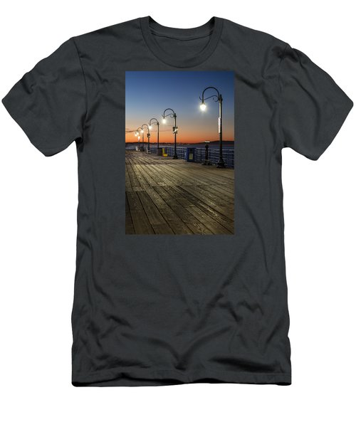 Santa Monica Pier Lights Men's T-Shirt (Athletic Fit)
