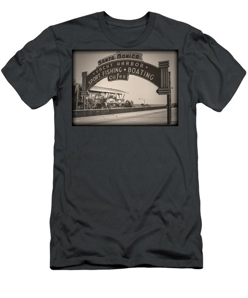 Santa Monica Sign Series Modern Vintage Men's T-Shirt (Athletic Fit)