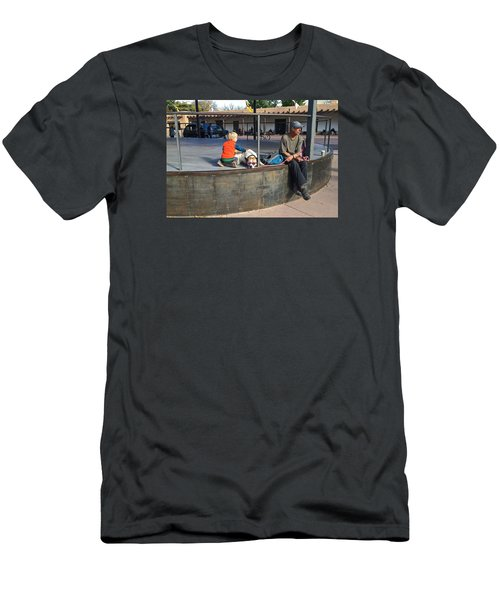 Men's T-Shirt (Slim Fit) featuring the photograph Sante Fe Chill by Brenda Pressnall